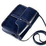 DAY.LIN Damen Retro Mini Diagonale Umhängetasche Vintage Geldbörse Tasche Leder Umhängetasche Umhängetasche (Dunkelblau)