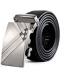 Tonsee® Hommes cuir boucle automatique Ceintures Fashion sangle de ceinture  de ceinture ceinture 3c14a1c523a