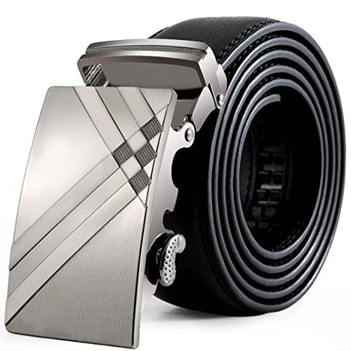 Tonsee® Hommes cuir boucle automatique Ceintures Fashion sangle de ceinture de ceinture ceinture (A)