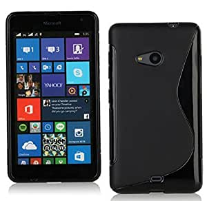 Microsoft Lumia 535 Magic Brand S-Line Black Soft Silicon Back Cover Case