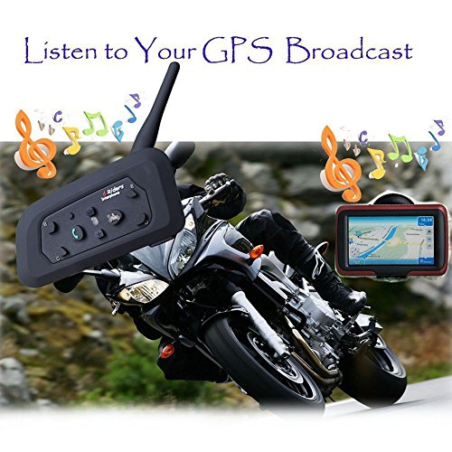 VNETPHONE® - V6 Interfono Bluetooth Moto Cuffie Stereo e Microfono 1200 metri...