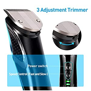Cordless Hair Clipper, Lamyik USB Rechargeable Hair Trimmer for Men, Waterproof, Include 4 Guard Combs for Men, Kids and Babies
