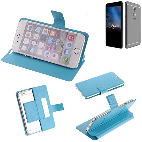 K-S-Trade Flipcover für Phicomm Energy 4s Schutz Hülle Schutzhülle Flip Cover Handy case Smartphone Handyhülle blau