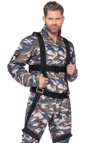 shoperama Fallschirmjäger Camouflage Herren-Kostüm von Leg Avenue - Jetpilot Fallschirmspringer Kampfpilot Soldat, - Fallschirmjäger Für Erwachsene Kostüm