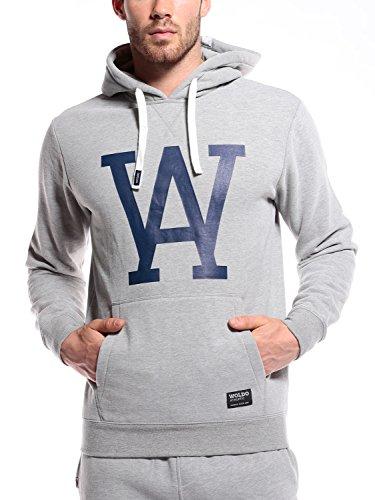 WOLDO Athletic Herren Hoodie Kapuzenpullover Pullover Sweatshirt (L, Sullivan/Grey)