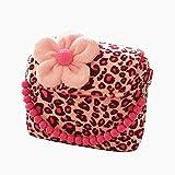 WeiMay moda bambina borsetta borsa carino Principessa Messenger spalla borsa borsetta della moneta del velluto per il migliore regalo per 1-6 anni(leopardo)
