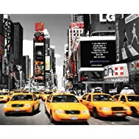 Nueva Tork Times Square Taxi amarillo Póster