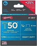 Arrow T50 0.25 Inch 6 mm Staples, Box of 1250