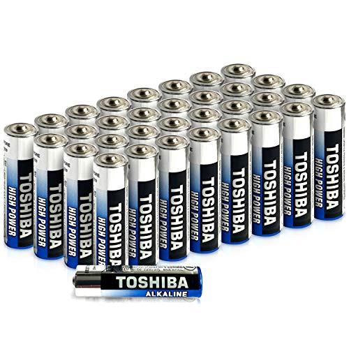 Toshiba AAA-Alkaline-Batterien (LR03, hohe Leistung, extra Lange Betriebsdauer, hochwertig, hochwertig, Großpackung