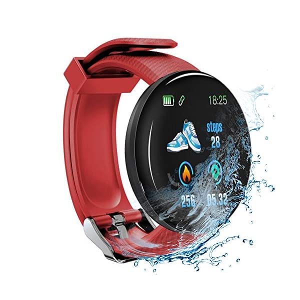 Minoni Smartwatch, Fitness Pulsera Reloj Completo Touch Screen Fitness Reloj IP68 estanco Fitness Tracker Sportuhr con… 1