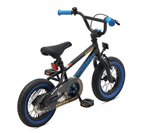 BIKESTAR Bicicletta Bambini 3-4 Anni da 12 Pollici ★ Bici per Bambino et Bambina BMX con Freno a retropedale et Freno a Mano ★ Nero & Blu - 5