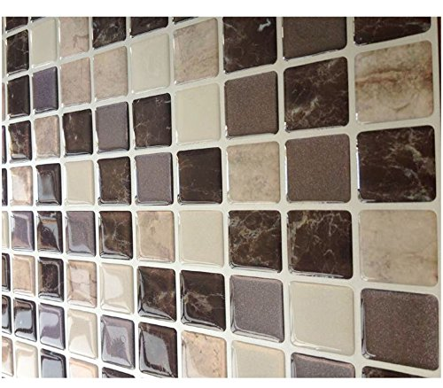 Tile adhesivo 3d gel efecto mosaico autoadhesivo mosaico azulejos de pared adhesivo cuadrado - Adhesivo para azulejos ...