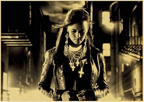 PWERWOTAM Sin City Eine Dame Zu Töten Für Filmplakate Vintage Style Wandaufkleber Kraftpapier Drucke Dekoration 42 * 30 cm