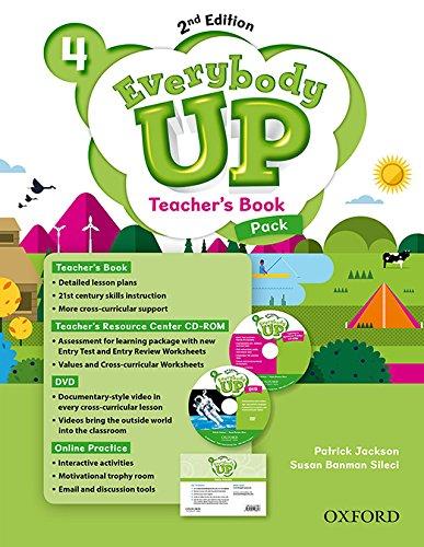Everybody Up! 4. Teacher's Book W/DVD& Online Practice Pack 2nd Edition (Everybody Up 2nd Edition)