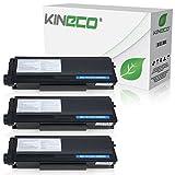 Kineco 3 Toner kompatibel für Brother TN-3280, TN3280 für Brother HL5340D, HL5350DN, HL5370WD, HL5380DN, 8085DN. 8880DN, 8890DW, MFC-8370DN - Schwarz je 8.000 Seiten