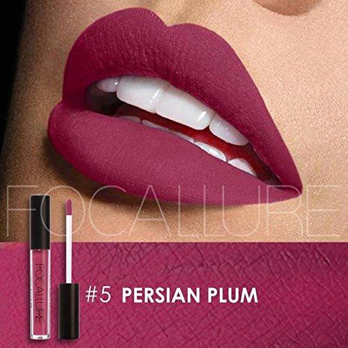 FOCALLURE Focallure Metal Matte Liquid Lipstick Smooth Lipstick Long Lasting Charming Lipgloss Cosmetic Beauty Makeup Lip Gloss