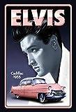 Schatzmix Elvis Presley mit Pink Cadillac 1955 blechschild