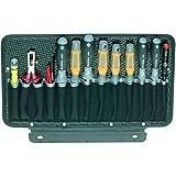 Parat 592000161 Werkzeugtafel für Werkzeugkoffer 1-seitig mit 13 Einsteckfächern, Schwarz