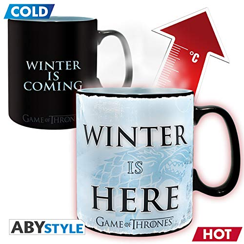 me of Thrones Thermoeffekt Tasse XL Winter Is Here Mehrfarbig 460 ml ()