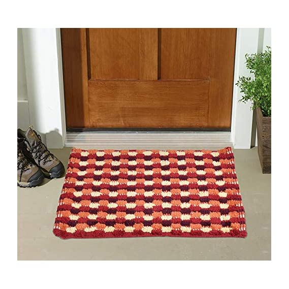 Shankara Pure Cotton Material Box Design Doormat for Home (Pack of 1)