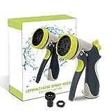 Best Hose Nozzles - LEMAIKJ Garden Hose Spray Gun/Nozzle, Mental 8-Pattern Handled Review