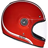 Royal Enfield HEAW17033 Classic Stripes Drifter Helmet (Red, Large)