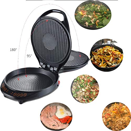 Multi Grill und Pizza Maker Multi Cooker Oven Non-Stick-Beschichtung mit Adjustable Temperature Control Maschine Easy Backen Griddle 1000W