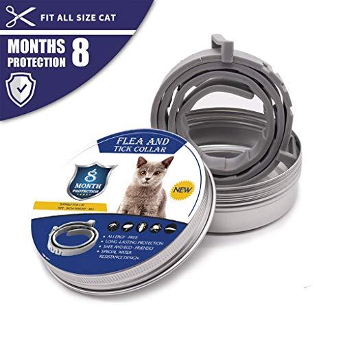 Nuovo Animale Domestico del Cane del Gatto Collare antipulci Mosquito Pet Regolabile Collare del Gatto Accessori (Se envía Desde : Estados Unidos, Tamaño : 62cm Dog)