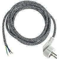 as - Schwabe 87202 Bügeleisen-Anschlussleitung, 3m H03RT-F 3G1,0, schwarz, IP20 Innenbereich