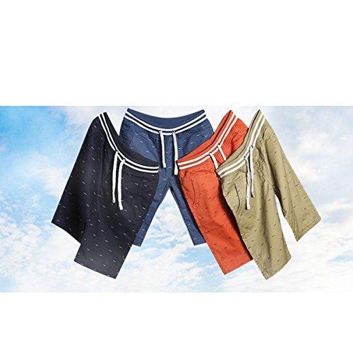 Estate Nuovi Uomini Casuale Di Grandi Dimensioni Di Cotone Rapidamente Asciutto Semplice Non Sbiadiscono Pantaloncini Da Spiaggia White