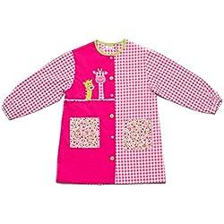 Dyneke Bata escolar botón rosa Jirafas (Talla 6)