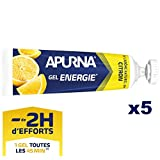 APURNA - GEL ENERGIE -2h d'effort- CITRON - Energisant - Made in France - 5x35g