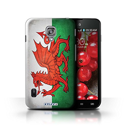 Kobalt® Imprimé Etui / Coque pour LG Optimus L7 II Dual / Amérique/americain conception / Série Drapeau Pays de Galles/gallois