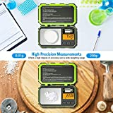 Brifit Digital Pocket Scale, (200 x 0.01g) Precision Mini Scales with 50g Calibration Weight, Potable Smart Scale with LCD Backlit, 6 Units, Tare Function, Stainless Steel, Green (Battery Included)