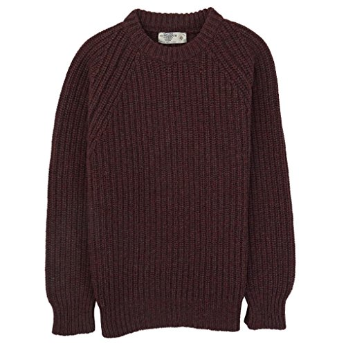 Genuine Scottish Knits -  Maglione  - Uomo Jasper Red XXL