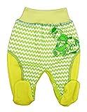 Makoma, Schmetterling Baby-Kids Baby Hose mit Füßchen Unisex Größe 50-86 (86, Drachen-grün)