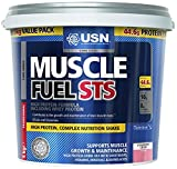 USN Muscle Fuel STS High Protein Meal Replacement Shake Powder, Strawberry - 5 kg