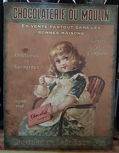Antic Line Plaque «chocolaterie du Moulin »25 * 33 cm