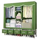 XIAONUA kleiderschrank stoffschrank Garderobe,Textilschrank Aufbewahrung,Campingschrank Faltschrank Regale mit Schubladen,Wardrobe Closet Organizer,D_66.9x17.7x76.7inch