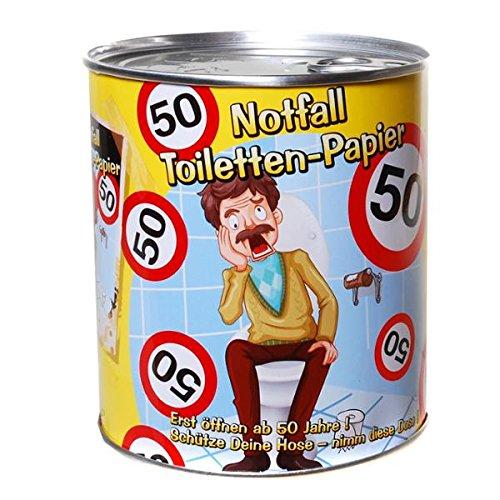 Notfall Toilettenpapier 50 Jahre Geschenk für den Geburtstag Klopapier