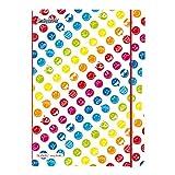 Herlitz 50001712 Notizheft flex Smiley World Rainbow, A4 2 x 40 Blatt liniert, kariert
