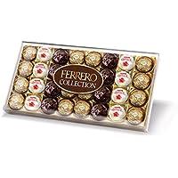 Ferrero Collection Chocolate Gift Set, Includes Ferrero Rocher, Rondnoir, andRaffaello, Assorted Milk Chocolate, Dark Chocolate and Coconut, and Almond Pralines, Box of 32 Pieces