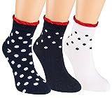 Vitasox 21145 Kurzsschaft Socken Baumwolle Mädchen Söckchen Punkte-Motiv Sneaker Socken ohne Naht 6er Pack 35