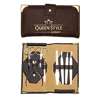 QUEEN STYLE 8-teiliges Nagelpflege- / Maniküre-Set in schönem Etui