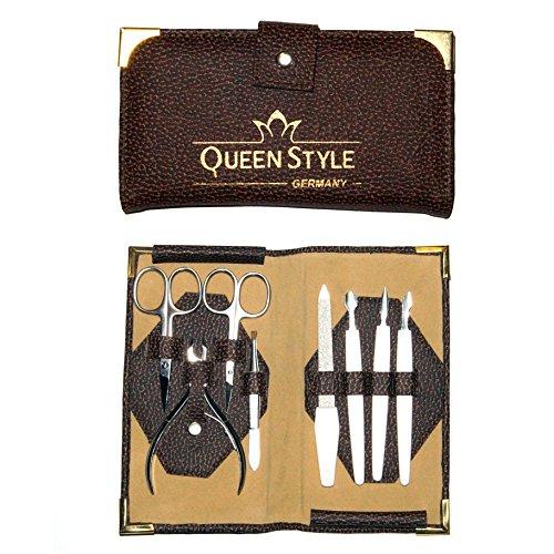 Preisvergleich Produktbild QUEEN STYLE 8-teiliges Nagelpflege- / Maniküre-Set in schönem Etui