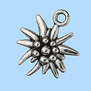 Trendy-Schmuckanhänger Edelweiss, 13 mm, Btl. a 2 St.
