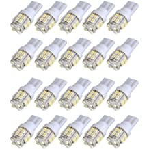 SODIAL(R) 20x T10 W5W 501 194 168 Car 20 Blanco Side SMD LED Interior Luz cuna del bulbo de lampara