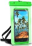 ONEFLOW® wasserdichte Handy-Hülle für Motorola & Lenovo   Touch- und Kamera-Fenster + Armband & Schlaufe zum Umhängen, Grün (Palm-Green)