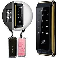 2 serrature SAMSUNG D500 SHS, per porta, digitale, autoserrante, touchpad di sicurezza EZON, con bulloni in stile gancio
