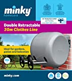 Minky Retractable Reel Washing Line - 30 m Bild 1